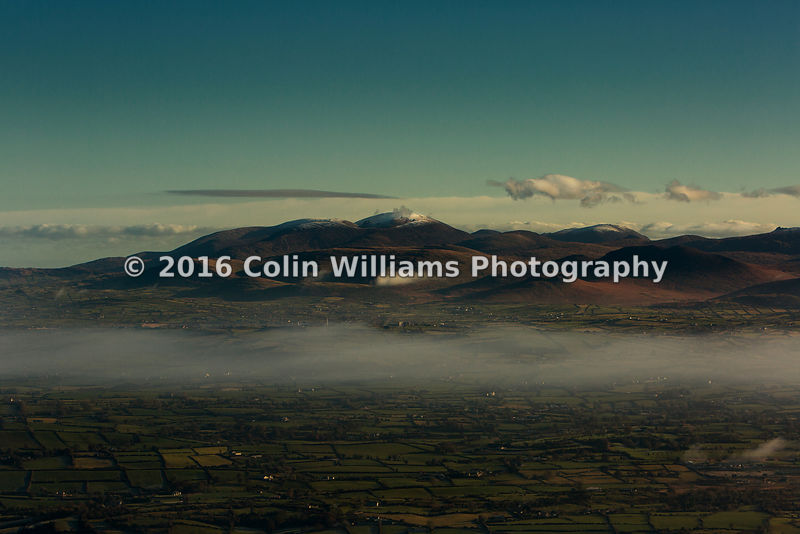 Aerial view  - Mourne Mountains, Northern Ireland