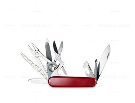 Swiss Army knife Open and cut
