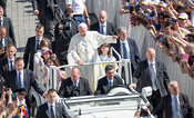 Pope Francis in the Popemobile during the Jubilee Audience of Saturday June 18th