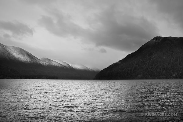 LAKE CRESCENT OLYMPIC NATIONAL PARK BLACK AND WHITE