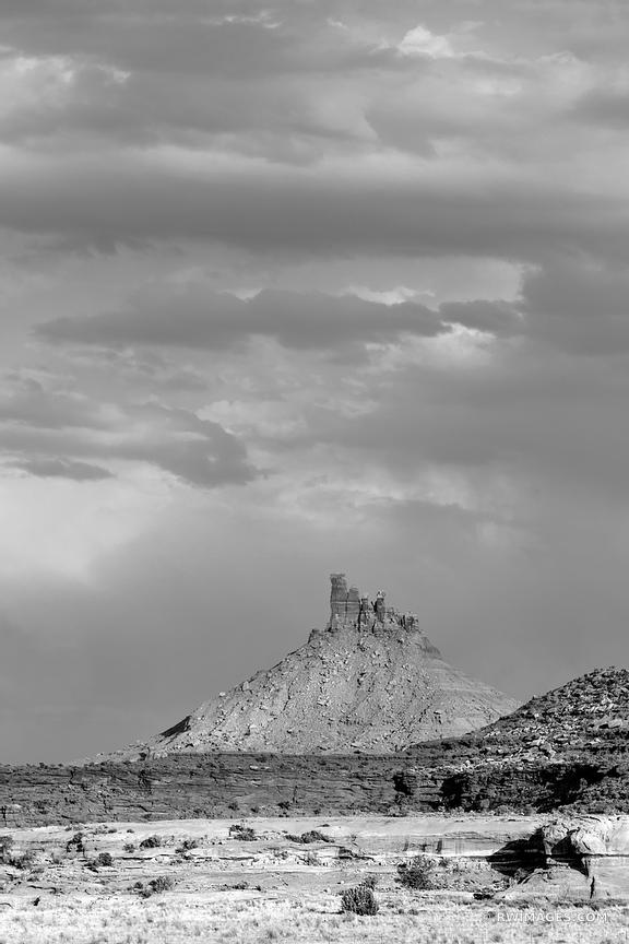THE NEEDLES DISTRICT CANYONLANDS NATIONAL PARK UTAH BLACK AND WHITE VERTICAL