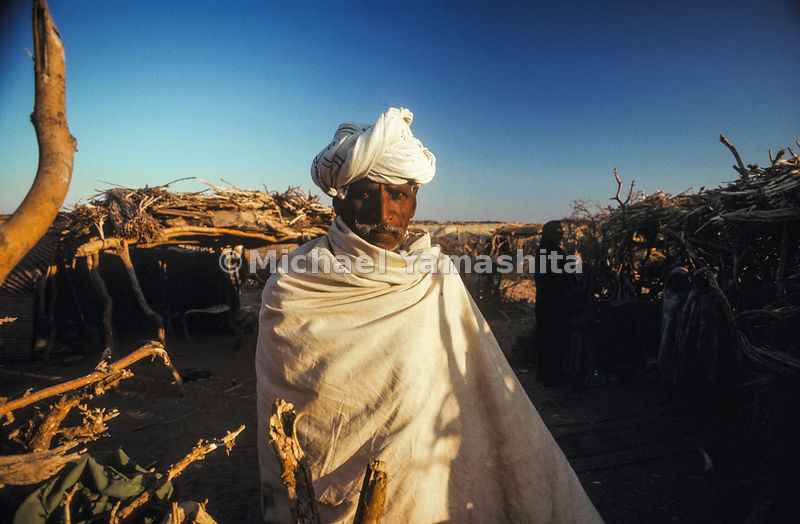 A man in Taragma, Sudan where there is a lost city.