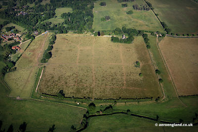 aerial photograph of the Roman town of Venta Icenorum  in modern day Caistor St Edmund Norfolk England UK.
