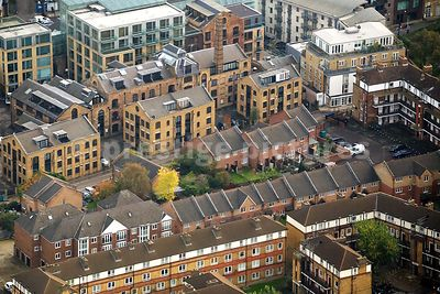 High Angle View of Residential Tenement Blocks and Apartment Buildings in London