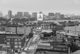 East Cambrdige Boston Skyline Aerial Citgo Sign Photo