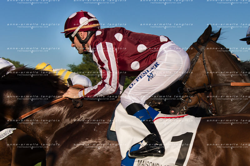 Olivier Peslier during a horse race
