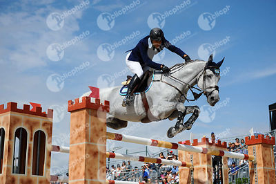 Jose Maria LAROCCA ,(ARG), CORNET DU LYS during Longines Cup of the City of Barcelona competition at CSIO5* Barcelona at Real Club de Polo, Barcelona - Spain