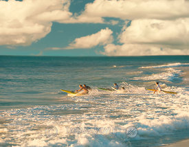 Surfers in Geographe Bay