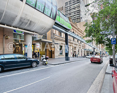 Monorail train on Pitt Street