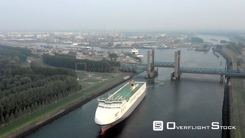 Shipping and Industry in Port of Rotterdam Netherlands