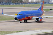 Southwest Airlines plane at Love Field in Dallas
