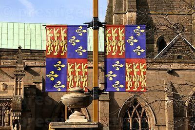 Regal Banners Decorating the Cathedral Grounds