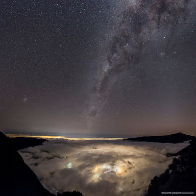 Galaxies over Cilaos - Reunion Island