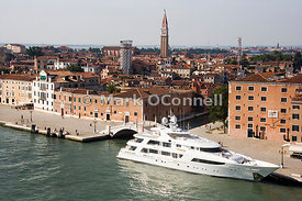 Yacht along side in Venice