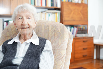 Senior lady at home