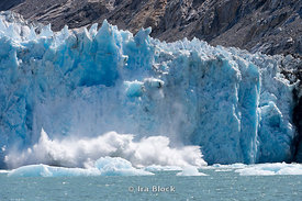 Ice calving off at Dawes Glacier, Endicott Arm, Southeast Alaska.  Sequence 3 of 11.