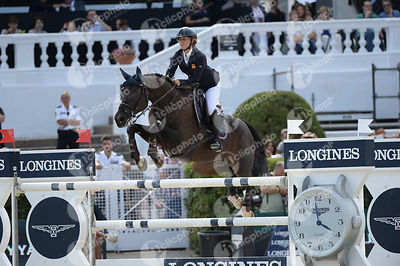 Laura ROQUET PUIGNERO ,(ESP), QUILATE DEL DUERO during Longines Cup of the City of Barcelona competition at CSIO5* Barcelona at Real Club de Polo, Barcelona - Spain
