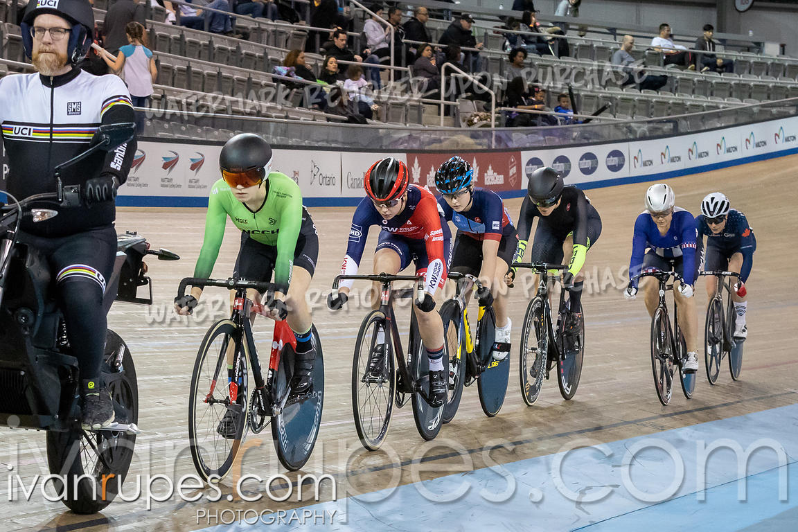 Women Keirin 1-6 Final. Track Ontario Cup #2, January 13, 2019
