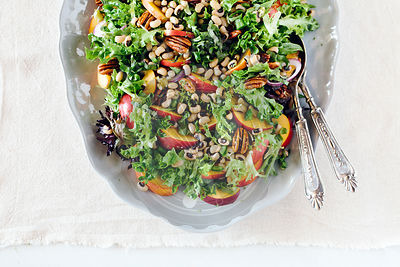 Black-Eyed Pea Salad with Peaches and Pecans