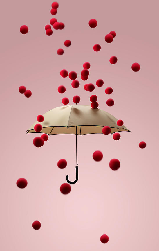 Umbrella protection from chicken pox.