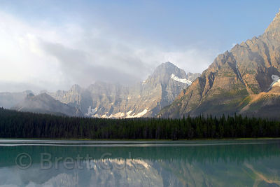 Morning reflections in Banff NP, Canadian Rockies.