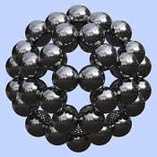 Buckminsterfullerene or Buckyball C60 #9