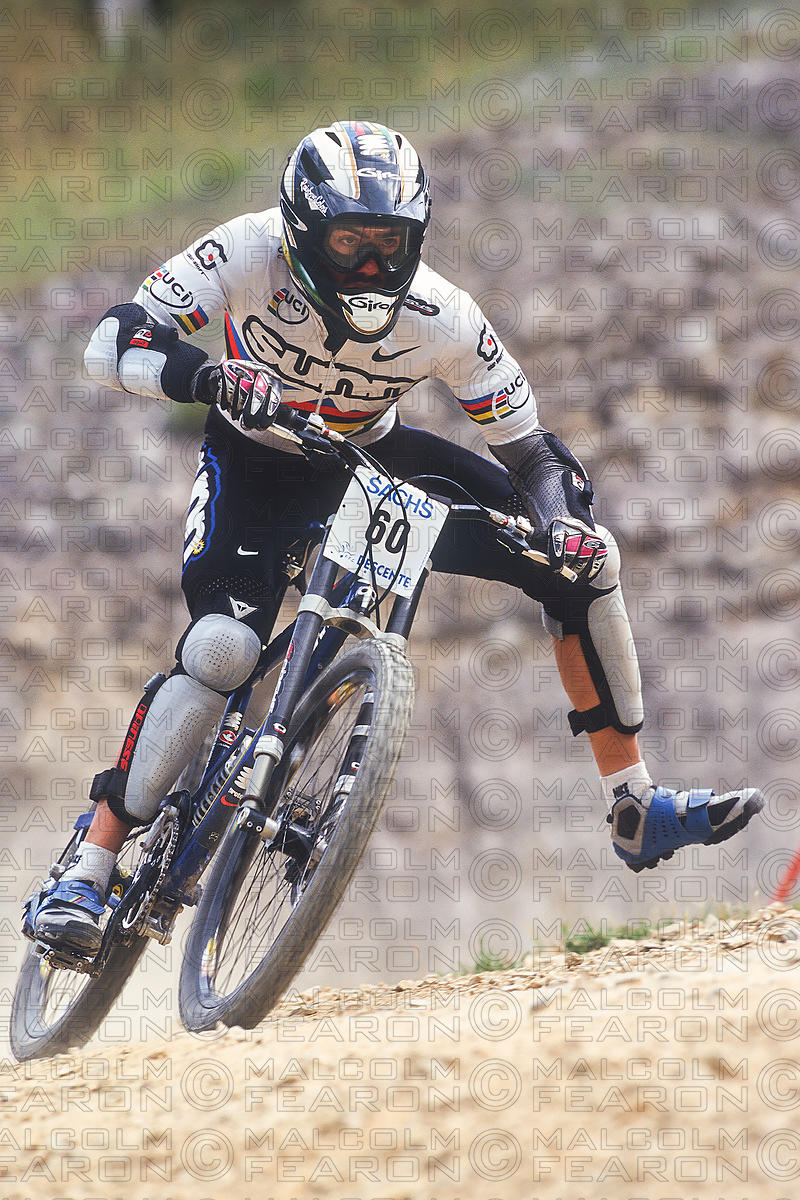 NICOLAS VOUILLOZ FINAL METABIEF, FRANCE. EUROPEAN DOWNHILL CHAMPIONSHIPS 1997