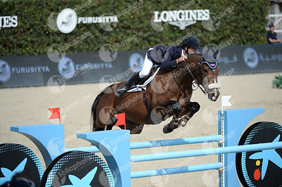 Diego PEREZ BILBAO ,(ESP), LORDANOS JUNIOR during Caixa Bank Trophy competition at CSIO5* Barcelona at Real Club de Polo, Barcelona - Spain