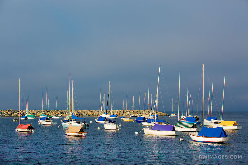 SAILBOATS IN HARBOR ROCKPORT CAPE ANN MASSACHUSETTS