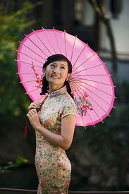woman in qipao