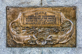 Bronze Tribute to Chief Seattle at Tilikum Place