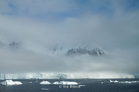 View of Neko Harbor which is an inlet on the Antarctic Peninsula.