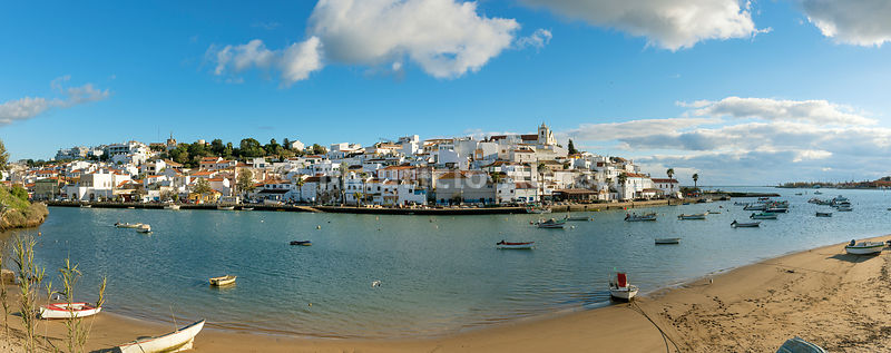 The traditional fishing village of Ferragudo. Algarve, Portugal