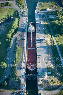 Cargo Ship in a Saint Lawrence Seaway Lock