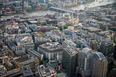 Aerial view of St Paul's, London