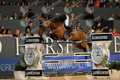 LOPEZ Carlos, (COL), Prince de la Mare  during CSI5-W_1,60_Longines World Cup Grand Prix competition at Madrid Horse Week at IFEMA, Madrid - Spain