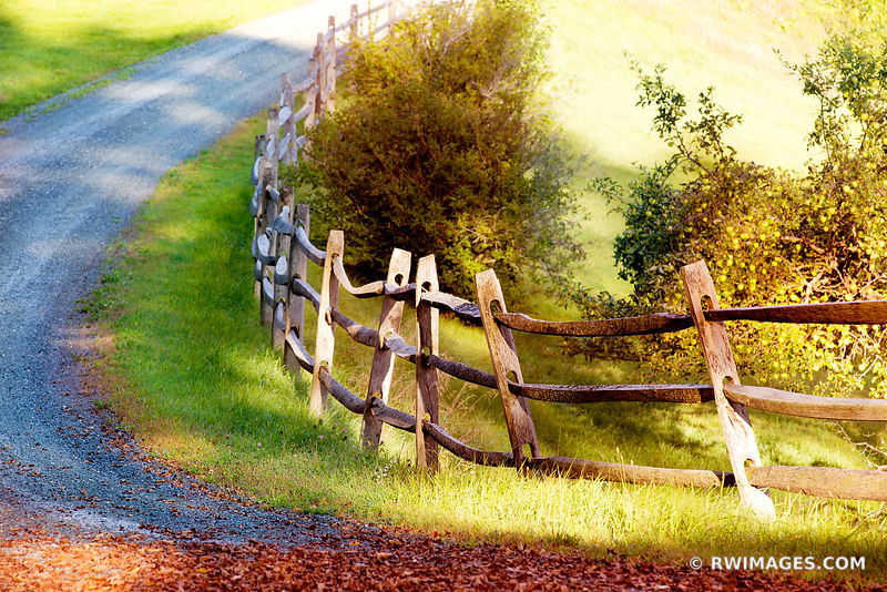 COUNTRY ROAD WOODEN FENCE VERMONT