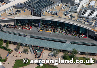 aerial photograph of  Liverpool One Shopping Centre   Merseyside UK