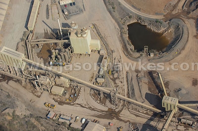 Aerial view of Stancombe Lane Quarry, Bristol