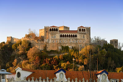 Leiria castle dating back to the 12th century. Portugal