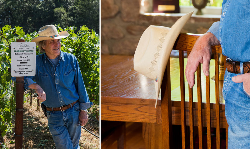 Former judge turned winemaker Scott Snowden, editorial photograph for Wine Spectator Magazine by Jason Tinacci