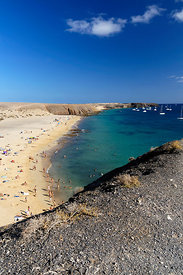Playa Mujeres beach, Playa Blanca, Lanzarote, Canary Islands, Spain.