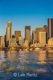 Downtown Seattle Skyline Viewed from Bremerton Ferry