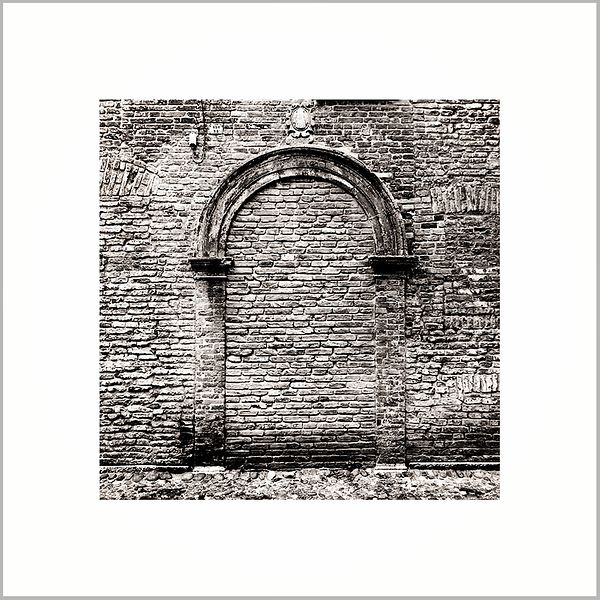 4th May 2017 - Bricked-up doorway in the Jewish Ghetto - Ferrara, Emilia Romagna (Italy)