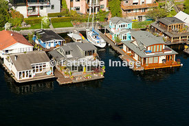 Portage Bay And Houseboats, Seattle
