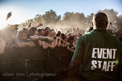 Security staff, Aftershock 2013