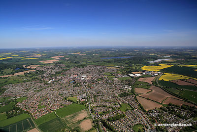 aerial photograph of Newport Shropshire England UK