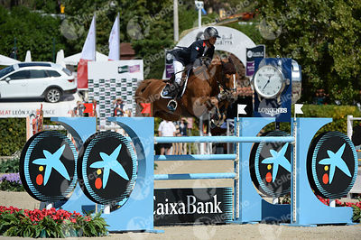 Penelope LEPREVOST ,(FRA), SULTANE DES IBIS during Coca-Cola Trofey competition at CSIO5* Barcelona at Real Club de Polo, Barcelona - Spain