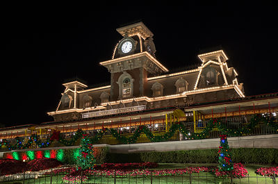 Main Street Train Station - Christmas