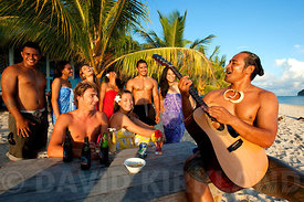 Beach party, Upolu Island